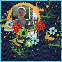My grandson playing with the water fountains at the park. Credits: Fuss Free: Play It Again 8 by Fiddle-Dee-Dee Designs http://scraporchard.com/market/Fuss-Free-Play-It-Again-8-Digital-Scrapbook.html  Kit: Currently, Amber Shaw