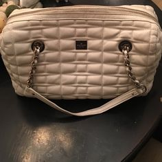 Kate Spade Handbag NOT FOR SALE ON HOLD Kate Spade ivory leather medium size handbag.  This is a pre-loved bag with some wear but lots of life still in it. kate spade Bags Shoulder Bags