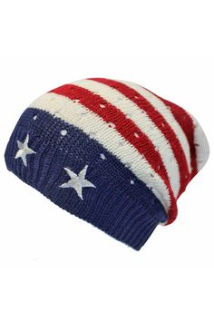 American Flag Stars & Stripes Beanie Cap Hat