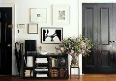 The entry of designer Michael Bargo's apartment.