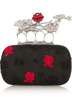 601ca6333792 Alexander McQueen - Short Knuckle embroidered voile box clutch