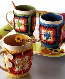 Ideas Crochet Basket Pattern Cup Cozies For 2019 Crochet Coffee Cozy, Crochet Cozy, Crochet Gifts, Crochet Basket Pattern, Crochet Patterns, Yarn Projects, Crochet Projects, Crochet Christmas Decorations, Mug Rug Patterns
