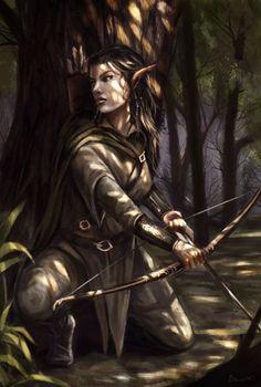 Image result for wood elf druid female