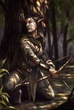 Image result for wood elf druid female
