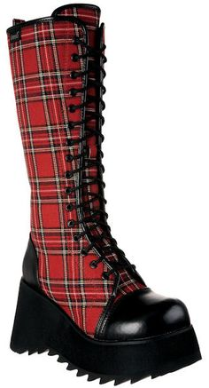 Punk Plaid Boots, too cute
