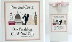 London themed wedding card post box