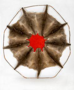 Julie Gough (in) case of emergency 2011 tea tree, copper & kangaroo skins installation: x cm In Case Of Emergency, Tea Tree, Leaf Tattoos, Kangaroo, Copper, Gallery, Artist, Baby Bjorn, Kangaroos