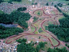 New Berlin, NY - Home of the Unadilla track , can't wait to ride there again. Dirt Bike Track, Dirt Bikes, Motocross Tracks, New Berlin, Wheel Of Life, Aerial Images, Vintage Motocross, Old Images, Street Tracker