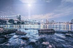 Photo listed in Cityscape 27 shares, 49 likes and 1495 views. New York Cityscape, New York Skyline, Brooklyn Bridge, Landscapes, Travel, Scenery, Trips, Paisajes, Viajes