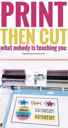 Learn - Whether you have Maker or Explore - how to Print and Cut images with your Cricut. Hi Daydreamers! Today you are going to learn - whether you have Maker or Explore How To Use Cricut, Cricut Help, Cricut Air, Cricut Vinyl, Cricut Explore Projects, Vinyl Projects, Art Projects, Cricut Tutorials, Cricut Ideas