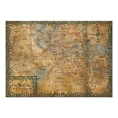 The Hobbit: An Unexpected Journey #hobbit #unexpected #journey #bilbo #baggins #middle #earth #bag #end #the #shire #the #shire #map #maps #vintage #maps #shire map