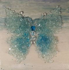 Crushed glass butterfly www.artshattered.com