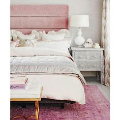 Can't get over this paneled headboard. Thinking of purchasing a similar one from West Elm in Dusty Rose.