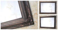 "Large Framed Black Mirror For Sale Baroque DECORATIVE ORNATE Oil Rubbed Bronze 44'x32"" Large Black Framed Vanity Mirror"