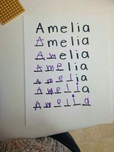 Name spelling activity idea for Preschool. by glenna