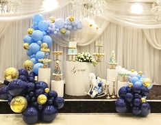Beautiful blues and gold for George's Christening Props and styling @blissfuleventbysonia Cake @cakesbyziodiz #christening #babyboy #babyblue #blues #blueballoons #gold #blueandgold #ombre #ombreblue #gradient #balloondecorations #organicballoons #quirkyballoons #navy #navyballoons #powderblue