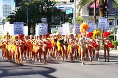 No resort fees rally with angry showgirls, 2011.