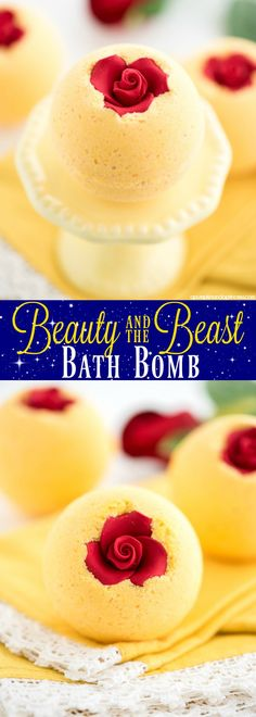 These Beauty and the Beast bath bombs are the perfect for little princess's at bath time. These Bath bombs are easy to make and would make great sellers for any stall holders. Learn how to ma…