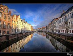 Bruges canals, superb shot!