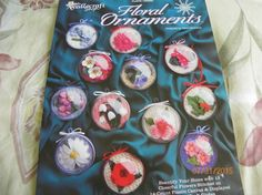 Plastic Canvas Floral Ornaments by by MillersHollowGifts on Etsy