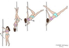 Learn How To Pole Dance From Home With Amber's Pole Dancing Course. Why Pay More For Pricy Pole Dance Schools? Pole Fitness Moves, Pole Dance Moves, Pole Dancing Fitness, Dance Fitness, Dance Silhouette, Pole Tricks, Pole Art, Dance Training, Aerial Hoop