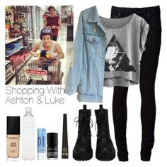 """""""Shopping With Ashton & Luke"""" by hana-69 ❤ liked on Polyvore featuring Naked & Famous, Seletti, Nivea, Smashbox and Barry M"""