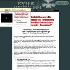 The Killer Mentalism Manuscript Explains Some Of The Most Devastating, High Impact Psychological Effects In All Of Magic. One Of A Kind Product, Great Conversions - Affiliate Tools & Conversion Proof At - Http://www.killermentalism.com/affiliates.html See more! : http://get-now.natantoday.com/lp.php?target=oldmagic