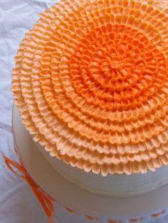 fun orange cake