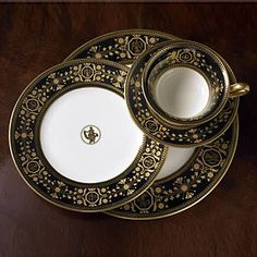 Wedgwood Black Astbury 5-Piece Place Setting