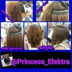 Dominican Hair silk press style