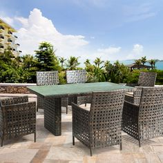 New Wicker Patio Furniture Makeover Dining Sets Ideas Affordable Outdoor Furniture, Outdoor Wicker Furniture, Outdoor Dining Chairs, Patio Chairs, Dining Tables, Outdoor Decor, Outdoor Living, Contemporary Modern Patio, Patio Furniture Makeover