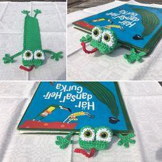 Virkat bokmärke groda Crochet bookmark frog