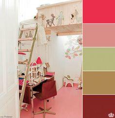 pink floor + kids bedroom