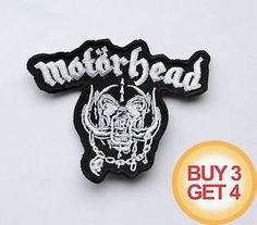 MOTORHEAD W PATCH,BUY3GET4,VENOM,SODOM,SLAYER,ACCEPT,HEAVY SPEED METAL,DISCHARGE = $6.64