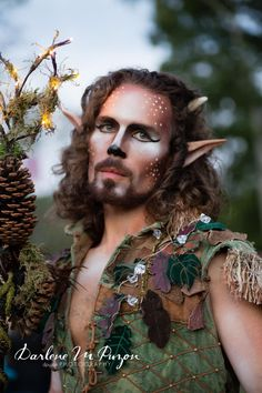 New York Renaissance Faire. Satyr Costume, Faerie Costume, Deer Costume, Faun Makeup, Deer Makeup, Costume Makeup, Woodland Fairy Costume, Male Fairy, Midsummer Nights Dream
