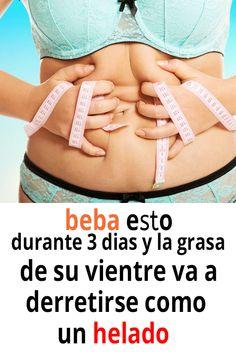 beba esto durante 3 dias y la grasa de su vientre va a derretirse como un helado. #Salud #Caseros #Remdios #Recetas #consejos