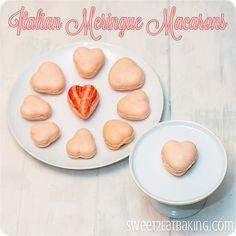 Italian Meringue Macarons Recipe! ~ at TheFrugalGirls.com #macarons #recipes