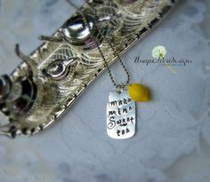 MASON JAR Necklace Tea Time Necklace by Unique2chicdesigns on Etsy