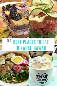 Our Favorite Places to Eat-Kauai, Hawaii // Cherry Blossoms Kauai Vacation, Hawaii Honeymoon, Hawaii Travel, Vacation Ideas, Honeymoon Tips, Vacation List, Vacation Spots, Big Island Hawaii, Oahu