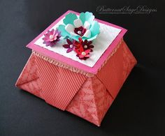 Pillow Gift Box, she has a link for tutorial on her site.