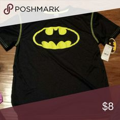 Boys Size XL 16 batman shirt Boys Size xl 16. Batman shirt. Feels like the dri  fit shirts. New with tags. Smoke free home Shirts & Tops Tees - Short Sleeve