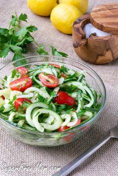 Low Carb Cucumber Noodle Gremolata sugarfreemom.com #makeyourmove @kohls