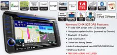 Kenwood DNX-521DAB SAT NAV Stereo for VW, Skoda & Seat with Free DAB Aerial !!