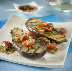 Recipe Page Image Appetizer Recipes, Dinner Recipes, Appetizers, Real Food Recipes, Yummy Food, Grilled Eggplant, Eggplant Recipes, Grilled Vegetables, Avocado Egg