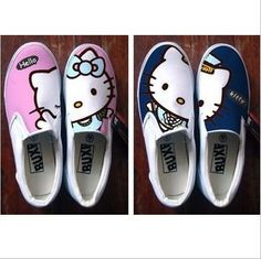 Buy Hand-painted shoes Hellokitty cute graffiti shoes low help without painted canvas shoes hot on Aliexpress.com
