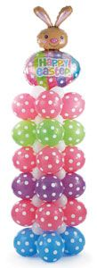 Bunny Dots Balloon Design Recipe - learn how to make this fun Easter column at the Balloons.com Idea Kitchen!