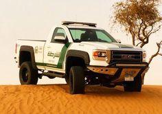 Dubai police GMC Sierra