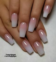 40 french fade with nude and white ombre acrylic nails coffin nails 48 - Summer Nail Colors Ideen Ombre Nail Designs, Acrylic Nail Designs, French Nail Designs, Nail Art Designs, Natural Nail Designs, Elegant Nail Designs, Nails Now, Nagel Blog, Best Acrylic Nails