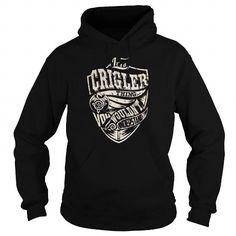I Love CRIGLER Last Name, Surname Tshirt T shirts
