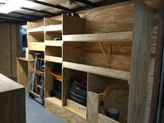 Tool trailer organization Trailer Shelving, Trailer Storage, Truck Storage, Work Trailer, Trailer Plans, Trailer Build, Van Storage, Tool Storage, Storage Ideas